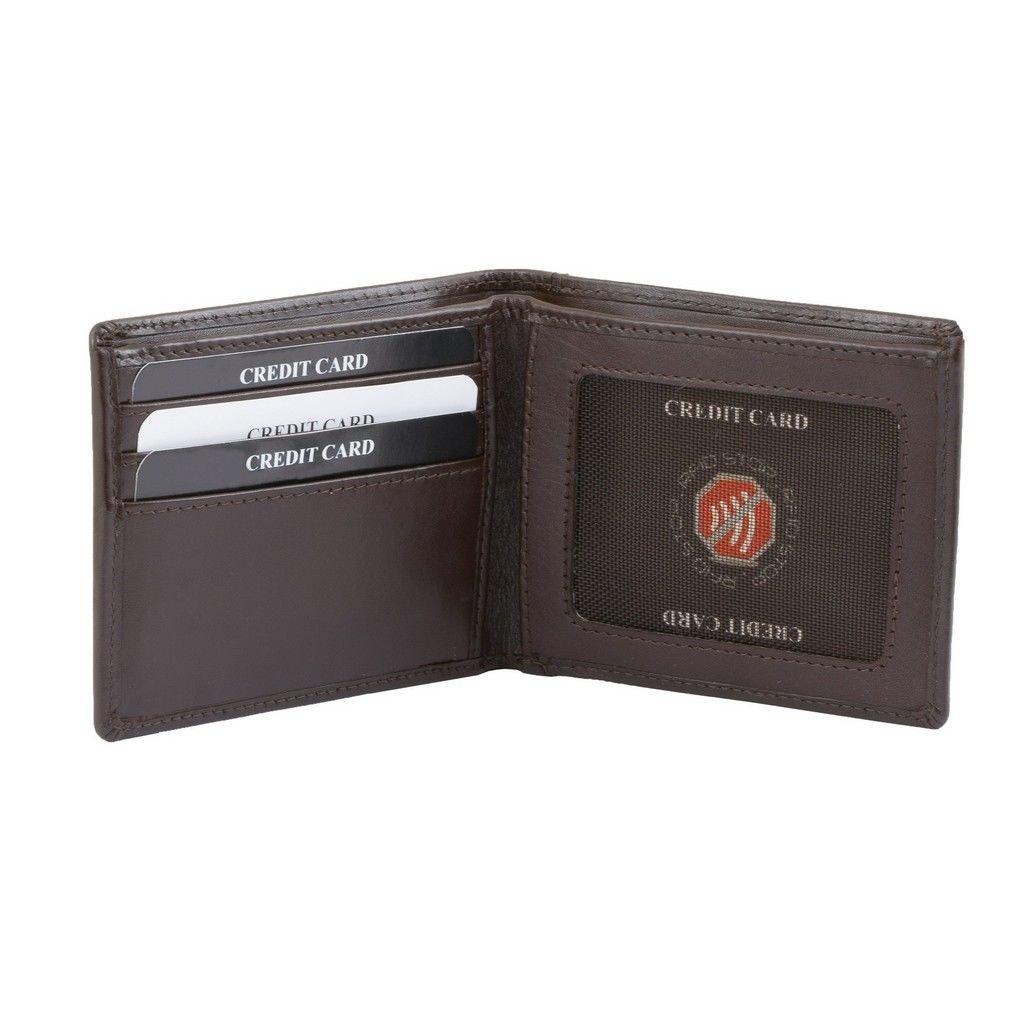 2ca73fcf35e4c Cienki portfel na banknoty oraz karty zbliżeniowe (Brązowy) Kliknij, aby  powiększyć ...