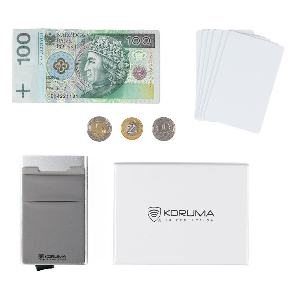 Aluminiowe etui na karty z mechanizmem wysuwania kart