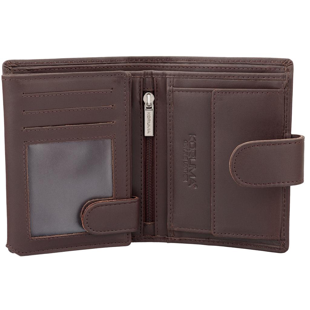 77f2617c85f35 Pojemny męski portfel skórzany z zabezpieczeniem przed skanowaniem
