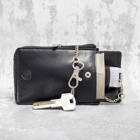 Etui zabezpieczające kluczyki typu keyless do samochodu (czarny)